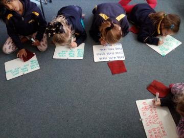 working hard at learning consonant digraphs