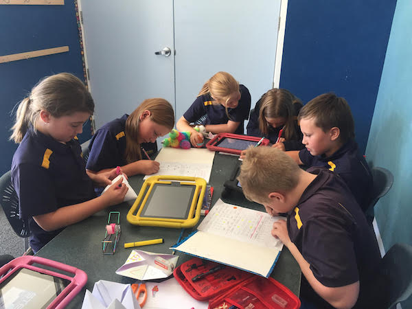 Image 6 Room 8 students working on different learning journey tasks independently and in a groups2