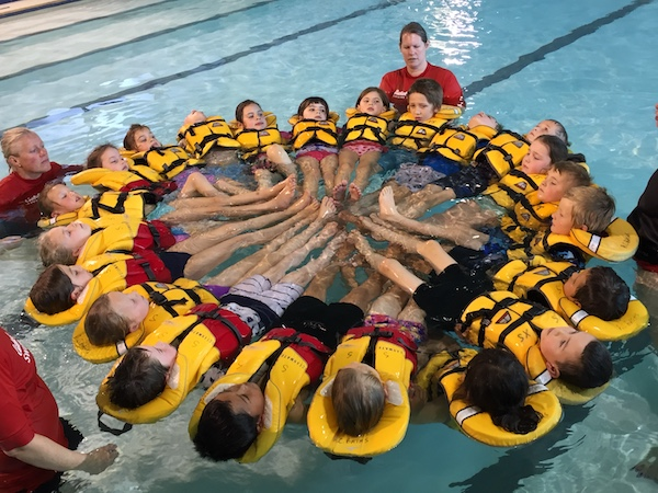 Water Safety learning the huddle